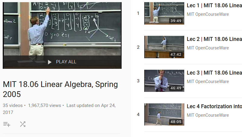 mit opencourseware linear algebra gilbert strang Differential equations and linear algebra - new book website gilbert strang  the strang and moler series on mit opencoureware  youtube and opencourseware ocw.